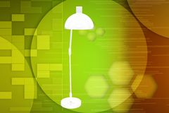 3d light stand illustration Royalty Free Stock Images