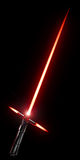 3D Lightsaber with cross guard Royalty Free Stock Photos