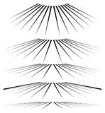 3d ligne géométrique éléments dans le niveau différent de la perspective Images libres de droits