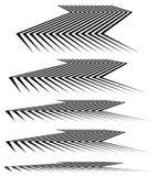 3d ligne géométrique éléments dans le niveau différent de la perspective Photos libres de droits