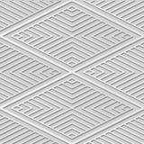 3D Lijn van Diamond Check Cross Vortex Frame van de Witboekkunst stock illustratie