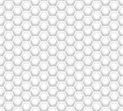 3D like honeycomb white texture. White honeycomb mesh seamless pattern. Futuristic abstract geometric hexagon element for internet, technology, science Stock Photography
