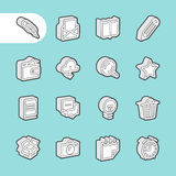 3D Line Icons Royalty Free Stock Images