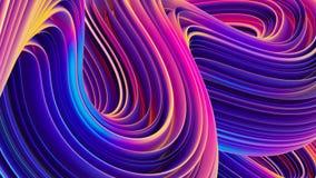 3D linhas onduladas holográficas líquidas abstratas fundo para o projeto na moda ilustração royalty free