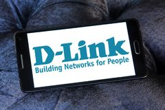 D-Link Corporation logo. Logo of D-Link Corporation on samsung mobile. D-Link Corporation is a Taiwanese multinational networking equipment manufacturing Royalty Free Stock Photo