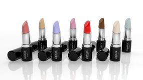 3D Lipsticks collection Royalty Free Stock Images