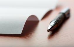 3 d list umowy długopis Obraz Stock