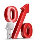 3d litet folk - växande procentsats royaltyfri illustrationer