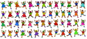 3d Little Girls and Boys Royalty Free Stock Photo