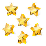 3d little golden star. Set with variations Stock Photography