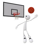 3d little man basketball player. Stock Photo