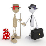 3d little men businessmen. Stock Image