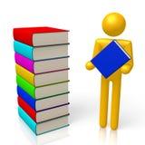 3D livres, concept d'éducation Photo libre de droits