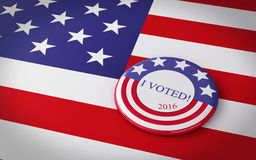 3d llustration of presidential campaign pin. Stock Photo