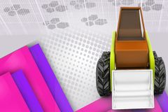 3d loader illustration Royalty Free Stock Photography