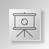 3D Loading Presentation Button Icon Concept Stock Photography