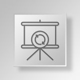 3D Loading Presentation Button Icon Concept Stock Images