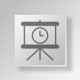 3D Loading slides Button Icon Concept Royalty Free Stock Image
