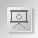 3D Loading slideshow Button Icon Concept Stock Image