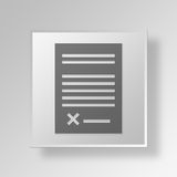 3D  Loan Contract Button Icon Concept. 3D Symbol Gray Square Loan Contract Button Icon Concept Royalty Free Stock Image