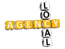 3D Local Agency Crossword. Over white background Royalty Free Stock Images