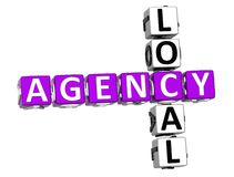 3D Local Agency Crossword. Over white background Stock Image