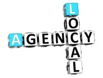 3D Local Agency Crossword. On white background Stock Image
