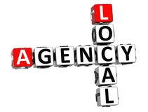 3D Local Agency Crossword. On white background Stock Photo