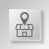 3D local business Button Icon Concept. 3D Symbol Gray Square local business Button Icon Concept Royalty Free Stock Image