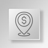3D local business Button Icon Concept. 3D Symbol Gray Square local business Button Icon Concept Royalty Free Stock Photo
