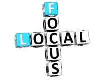 3D Local Focus Crossword Royalty Free Stock Images