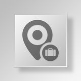 3D location business Button Icon Concept. 3D Symbol Gray Square location business Button Icon Concept Royalty Free Stock Image