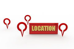 3d location concept Stock Photography