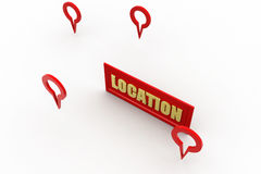 3d location concept Royalty Free Stock Photo