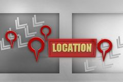 3d location illustration Stock Photos