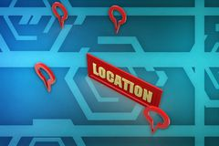 3d location illustration Royalty Free Stock Photo