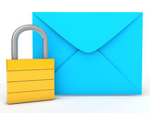 3d lock and envelope Stock Image