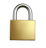 3D Lock Illustration Stock Photos
