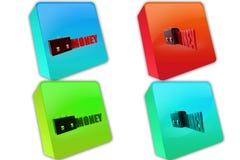 3d lock money icon Stock Photo
