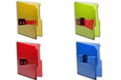 3d lock money icon Royalty Free Stock Photography