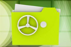 3d locked folder illustration Royalty Free Stock Photography