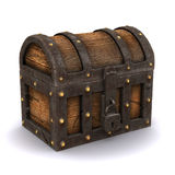 3d Locked treasure chest Royalty Free Stock Image