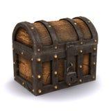 3d Locked treasure chest. 3d render of a locked treasure chest stock illustration