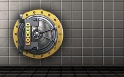 3d locked vault door blank Stock Photography