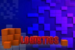 3d logistics illustration Stock Photos