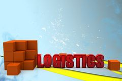 3d logistics illustration Royalty Free Stock Photography