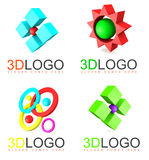 3D logo abstract Stock Photo