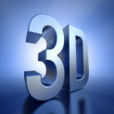 3D  logo with backlight Stock Photo