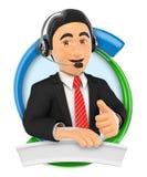 3D Logo. Call center. Custom service Royalty Free Stock Photos