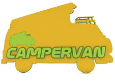 3d logo of campervan Royalty Free Stock Image